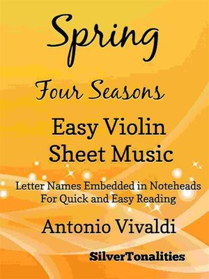cover image of Spring Four Seasons Easy Violin Sheet Music