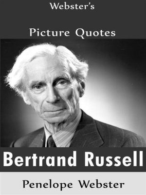cover image of Webster's Bertrand Russell Picture Quotes