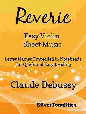 cover image of Reverie Easy Violin Sheet Music