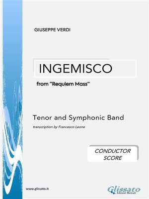 cover image of Ingemisco--Tenor and Symphonic Band (conductor score)