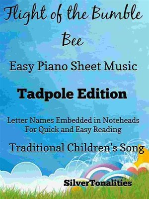 cover image of Flight of the Bumble Bee Easy Piano Sheet Music Tadpole Edition