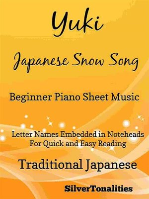 cover image of Yuki Japanese Song Song Beginner Piano Sheet Music