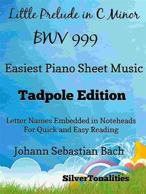 cover image of Little Prelude In C Minor Bwv 999 Easiest Piano Sheet Music Tadpole Edition