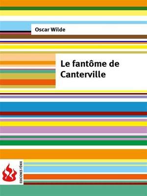 cover image of Le fantôme de Canterville (low cost). Édition limitée