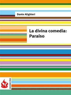 cover image of La divina comedia. Paraíso (low cost). Edición limitada
