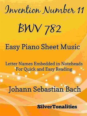 cover image of Invention Number 11 BWV 782 Easy Piano Sheet Music
