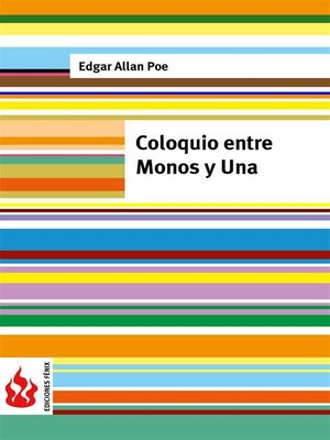 cover image of Coloquio entre Monos y Una (low cost). Edición limitada