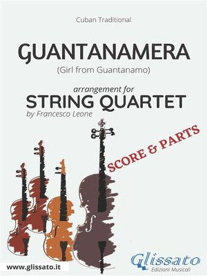 cover image of Guantanamera--String Quartet score & parts