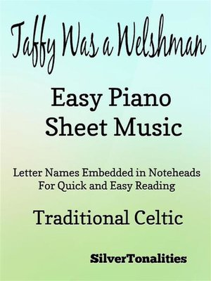 cover image of Taffy Was a Welshman Easy Piano Sheet Music
