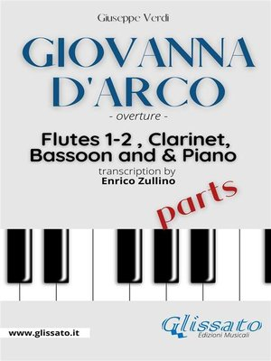"""cover image of """"Giovanna D'Arco"""" overture--Woodwinds & Piano (parts)"""