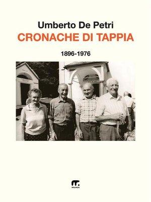 cover image of Cronache di Tappia