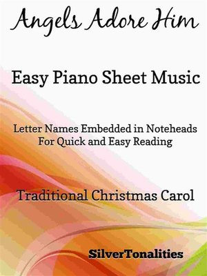cover image of Angels Adore Him Easy Piano Sheet Music