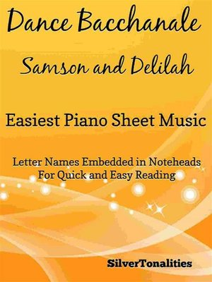 cover image of Dance Bacchanale Samson and Delilah Easiest Piano Sheet Music