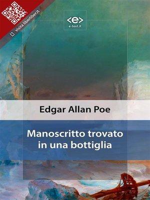 cover image of Manoscritto trovato in una bottiglia