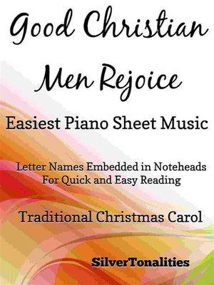 cover image of Good Christian Men Rejoice Easiest Piano Sheet Music
