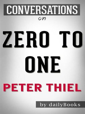 cover image of Zero to One--by Peter Thiel