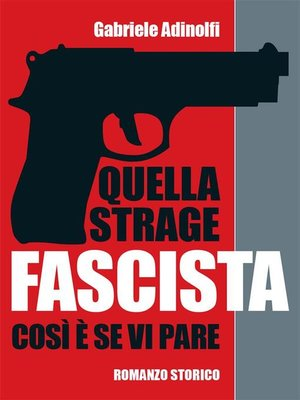 cover image of Quella strage fascista