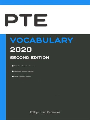 cover image of PTE General and PTE Academic Vocabulary 2020