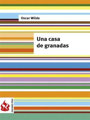 cover image of Una casa de granadas (low cost). Edición limitada