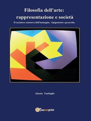 cover image of Filosofia dell'arte