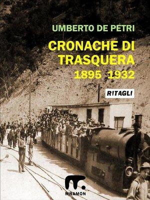 cover image of Cronache di Trasquera