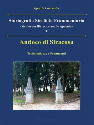 cover image of Antioco di Siracusa. Testimonianze e Frammenti
