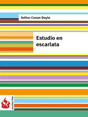 cover image of Estudio escarlata (low cost). Edición limitada