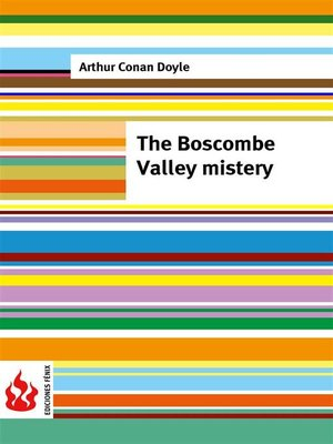 cover image of The Boscombe Valley mistery (low cost). Limited edition