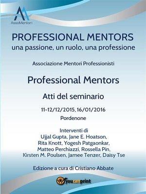 cover image of Professional Mentors. Atti del seminario