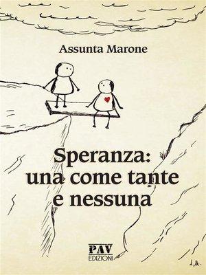 cover image of SPERANZA