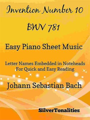 cover image of Invention Number 10 BWV 781 Easy Piano Sheet Music