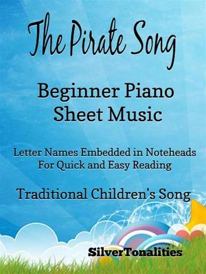 cover image of The Pirate Song Beginner Pianno Sheet Music