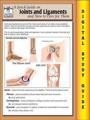 cover image of Joints and Ligaments ( Blokehead Easy Study Guide)