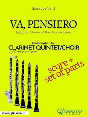 cover image of Va, pensiero--Clarinet Quintet score & parts