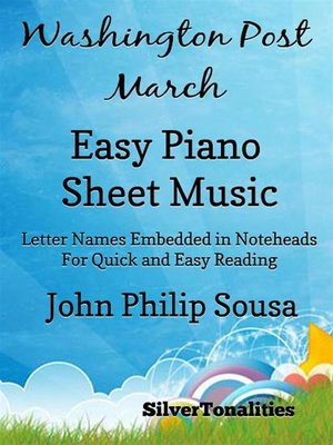 cover image of Washington Post March Easy Piano Sheet Music