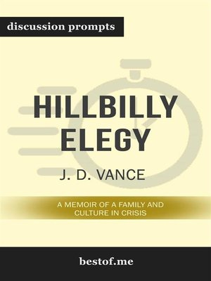 "cover image of Summary--""Hillbilly Elegy--A Memoir of a Family and Culture in Crisis by J. D. Vance 