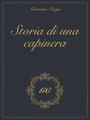 cover image of Storia di una capinera gold collection