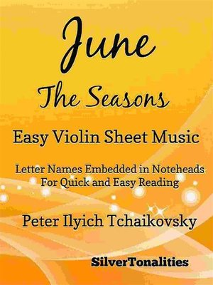cover image of June the Seasons Easy Violin Sheet Music