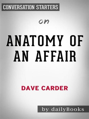 cover image of Anatomy of an Affair--by Dave Carder