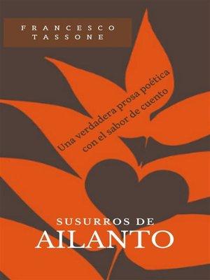 cover image of Susurros De Ailanto