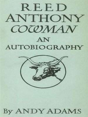 cover image of Reed Anthony, Cowman