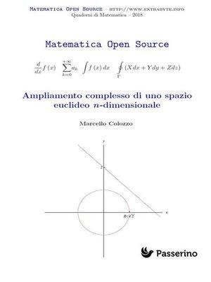 cover image of Ampliamento complesso di uno spazio euclideo n-dimensionale
