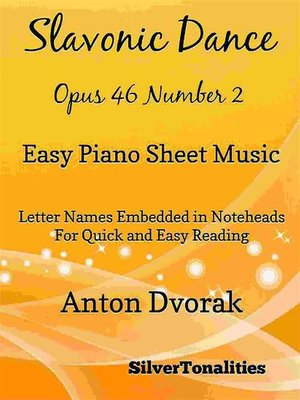 cover image of Slavonic Dance Opus 46 Number 1 Easy Piano Sheet Music