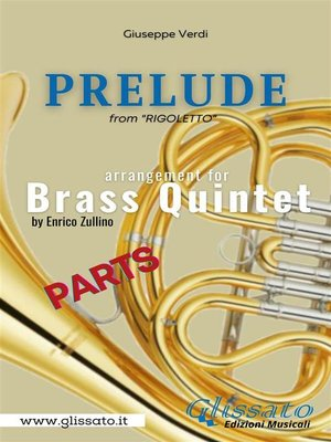 cover image of Prelude (Rigoletto)--Brass Quintet--parts