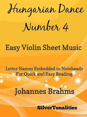 cover image of Hungarian Dance Number 4 Easy Violin Sheet Music
