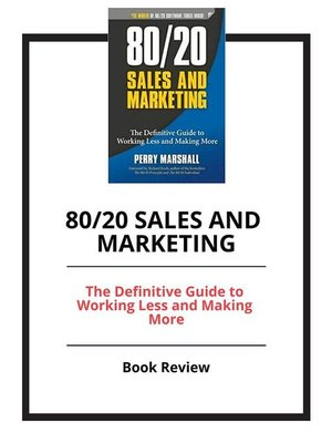 cover image of 80/20 Sales and Marketing