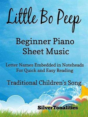 cover image of Little Bo Peep Beginner Piano Sheet Music