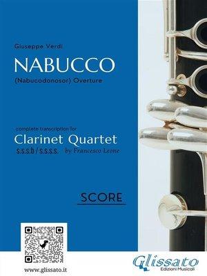 cover image of Nabucco--Clarinet Quartet score & parts