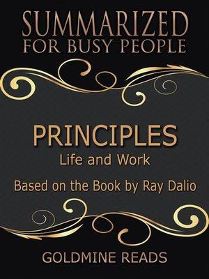 cover image of Principles--Summarized for Busy People