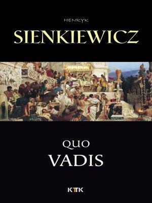 cover image of Quo Vadis--narrativa histórica dos tempos de Nero